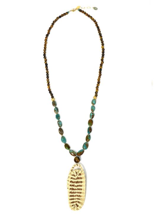 Tawny Sweetgrass Necklace