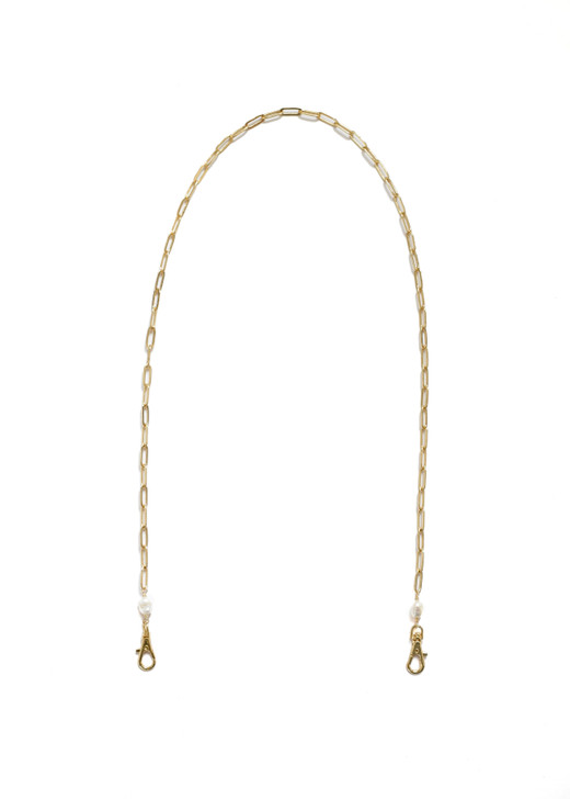 Paperclip Mask Chain- Gold