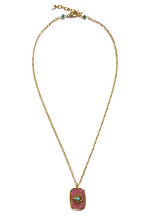 Starburst Necklace- Rhodonite