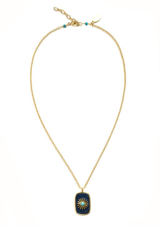 Starburst Necklace- Lapis