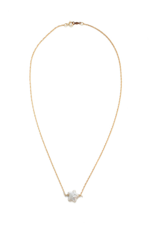 Simple Star Necklace- Gold