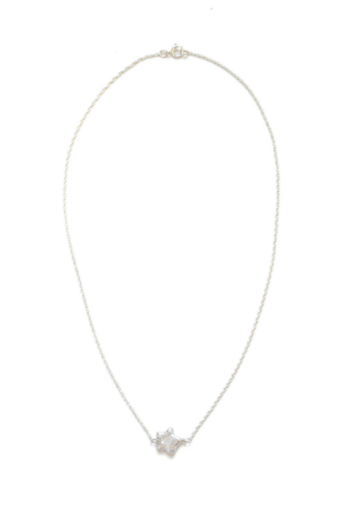 Simple Star Necklace- Silver