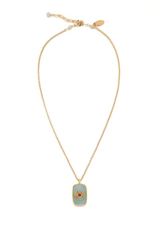 Starburst Necklace- Amazonite