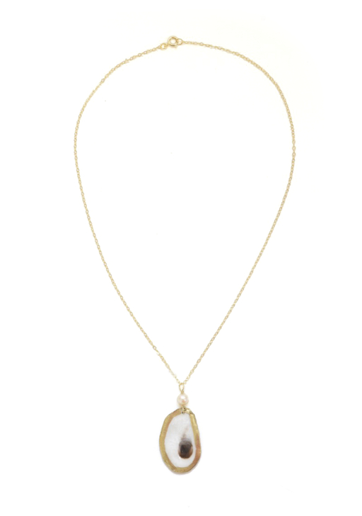 Edisto Oyster Necklace- Gold