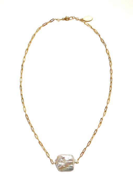 Square Keshi Pearl Necklace