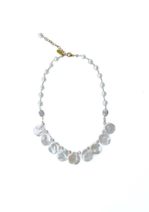 Pinckney Pearl Necklace in Gold