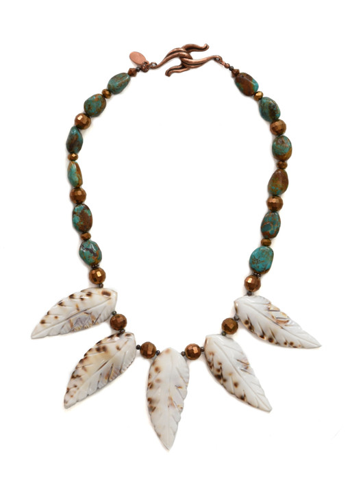 Cowrie Feather Necklace