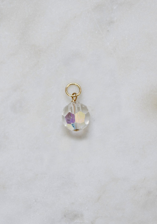 Clear Crystal Necklace Charm