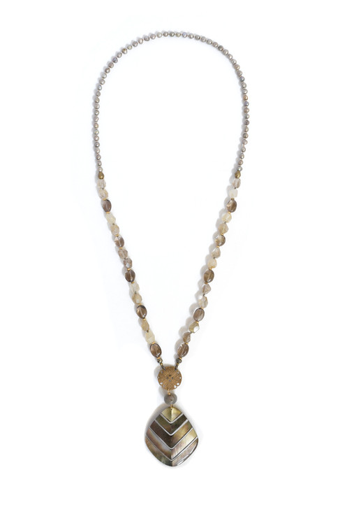 Abalone Chevron Necklace