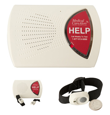 elderly medical alert system with two buttons