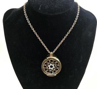 Antique Gold Jewelry Pendant Holder