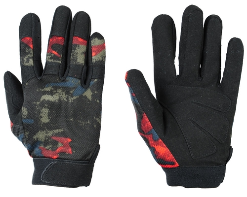Warrior Tournament Gloves - Acid Red