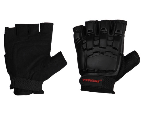 Tippmann Hard Back Half Finger Gloves