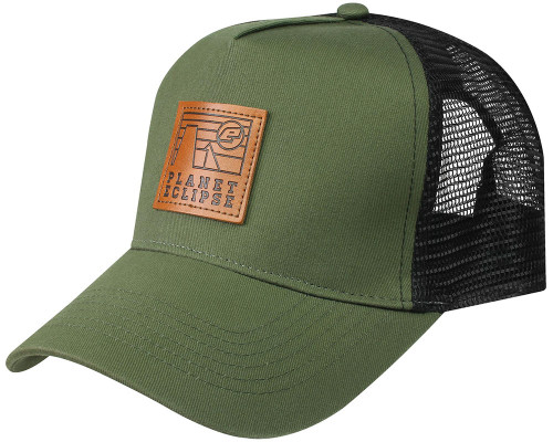Kast Extreme Fishing Gear Woodland Trucker Hat Green Gray Black Mesh Snapback