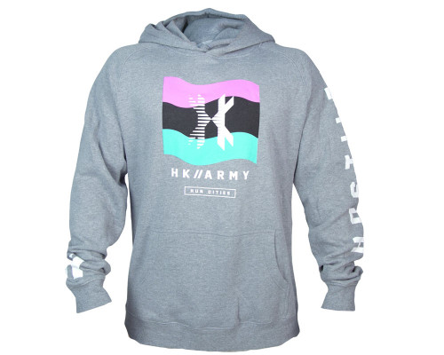 HK Army Hooded Pullover Sweatshirt - Wavy