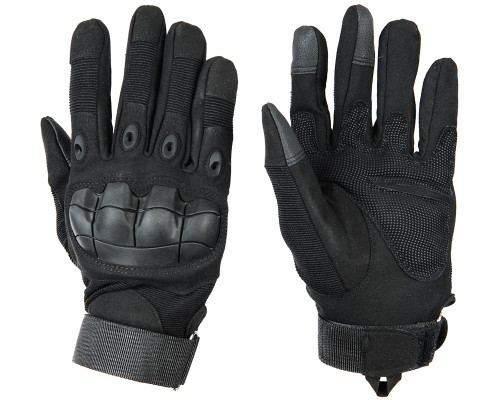 Warrior Full Finger Flex Knuckle Gloves - Black