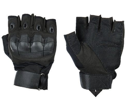 Warrior Half Finger Flex Knuckle Gloves - Black