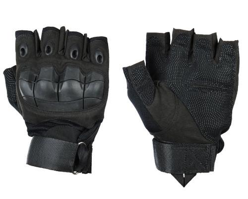 Warrior Half Finger Flex Knuckle Gloves - Black