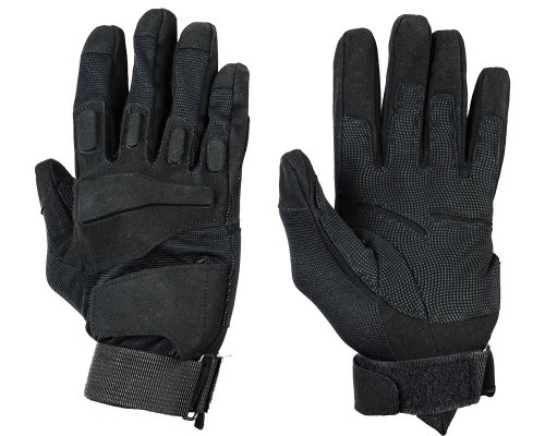 Warrior Full Finger Padded Gloves - Black