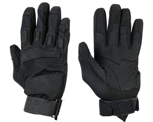 Warrior Full Finger Padded Gloves - Black