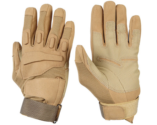 Warrior Full Finger Padded Gloves - Tan
