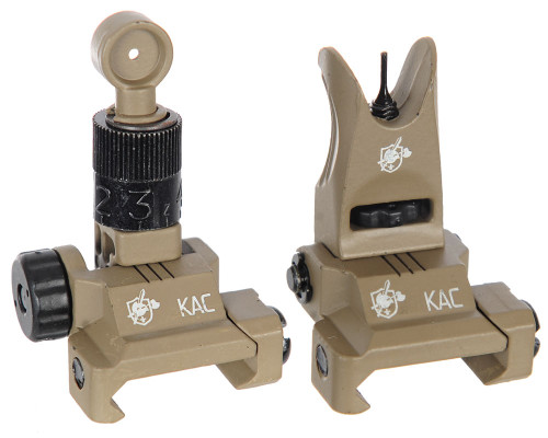 Knight's Armament - Back Up Iron Sights (BUIS) - Tan