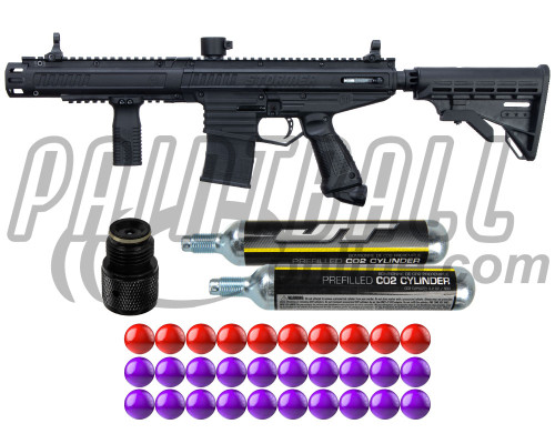 Tippmann Gun Kit Level 1 w/ PepperBalls® - Stormer Elite Dual Fed