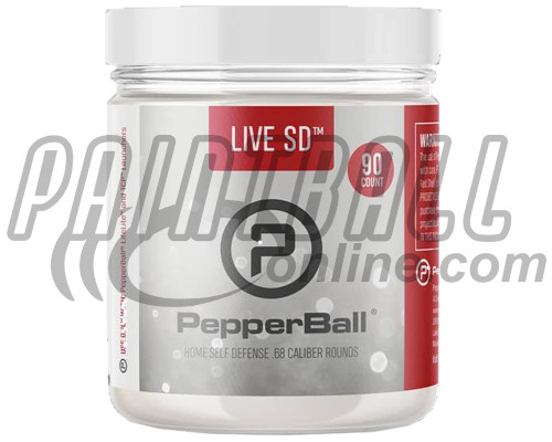 PepperBall® .68 Caliber Projectiles - Live SD - 90 Rounds