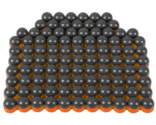 Tiberius Arms First Strike Paintball Rounds - 100 Count - Smoke/Orange Shell - Orange Fill