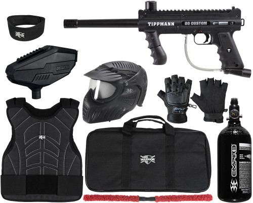 Tippmann Gun Package Kit - 98 Custom Ultra Basic Platinum Series - Level 2 Protector