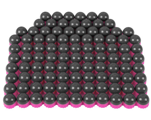 Tiberius Arms First Strike Paintball Rounds - 100 Count - Smoke/Pink Shell - Pink Fill