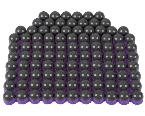 Tiberius Arms First Strike Paintball Rounds - 100 Count - Smoke/Purple Shell - Orange Fill
