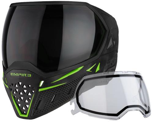 Empire Paintball Mask - EVS - Black/Lime Green