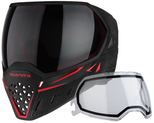 Empire Paintball Mask - EVS - Black/Red