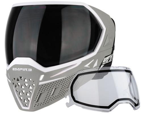 Empire Paintball Mask - EVS - White/Grey
