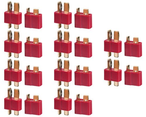 Tenergy Deans Battery Connector - 10 Set Male & Female