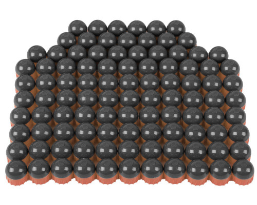 Tiberius Arms First Strike Paintball Rounds - 100 Count - Smoke/Copper Shell - Blue Fill