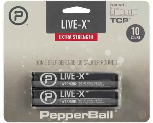 PepperBall® .68 Caliber Projectiles - Live X - 10 Rounds