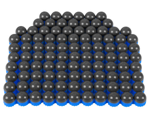 Tiberius Arms First Strike Paintball Rounds - 100 Count - Smoke/Blue Shell - Blue Fill