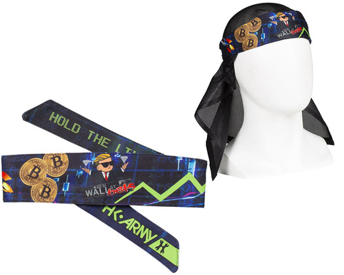 HK Army Head Tie Head Band & Head Wrap - To The Moon