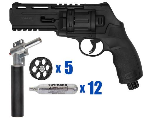 T4E Gun - TR50 11 Joule  Revolver .50 Caliber For Home Defense - Basic Kit 1