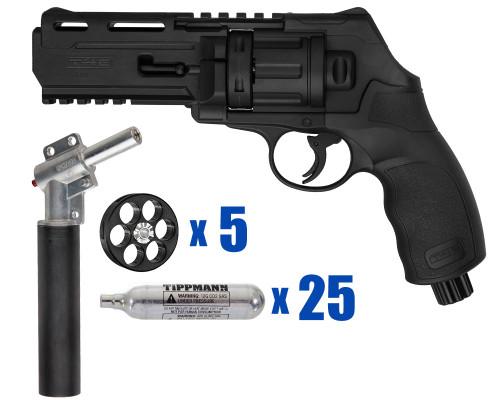 T4E Gun - TR50 11 Joule  Revolver .50 Caliber For Home Defense - Basic Kit 2
