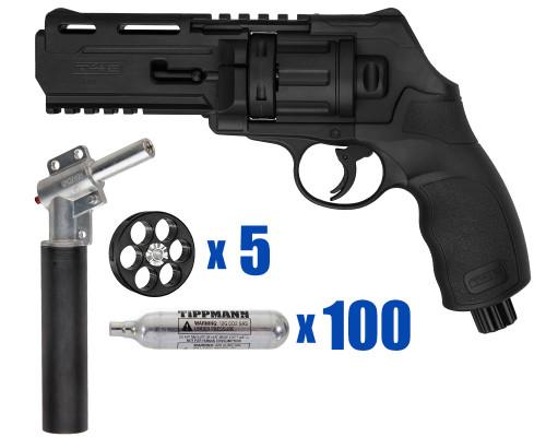 T4E Gun - TR50 11 Joule  Revolver .50 Caliber For Home Defense - Basic Kit 4