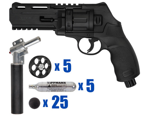 T4E Gun - TR50 11 Joule  Revolver .50 Caliber For Home Defense - Tactical Kit 1