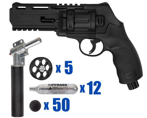 T4E Gun - TR50 11 Joule  Revolver .50 Caliber For Home Defense - Tactical Kit 2