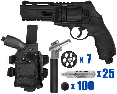 T4E Gun - TR50 11 Joule  Revolver .50 Caliber For Home Defense - Tactical Kit 4