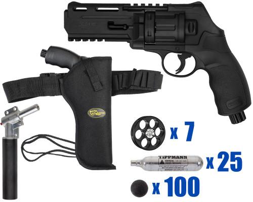 T4E Gun - TR50 11 Joule  Revolver .50 Caliber For Home Defense - Tactical Kit 5