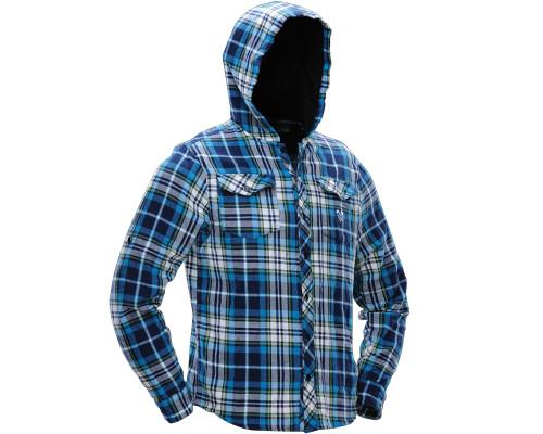Dye Button-Up Hooded Sweatshirt - Flannel