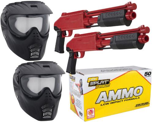 JT Splatmaster .50 Caliber Z200 Shotgun Duel Paintball Gun Kit