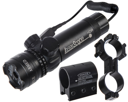 Warrior Deluxe Laser Sight w/ Barrel & Rail Mount - Red